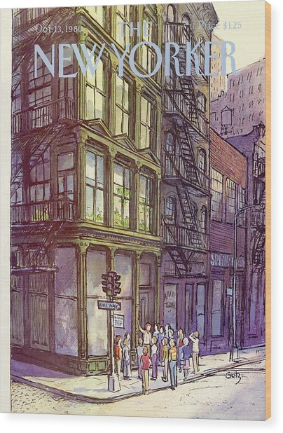 New Yorker October 13th, 1980 Wood Print