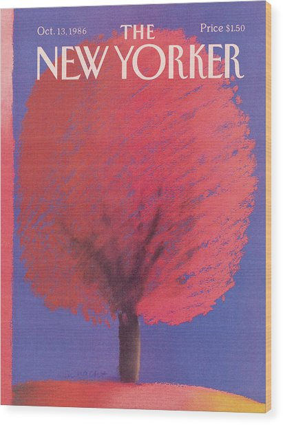 New Yorker October 13th, 1986 Wood Print