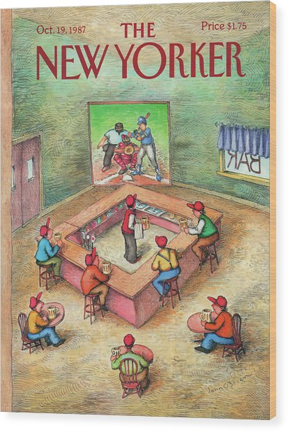New Yorker October 19th, 1987 Wood Print