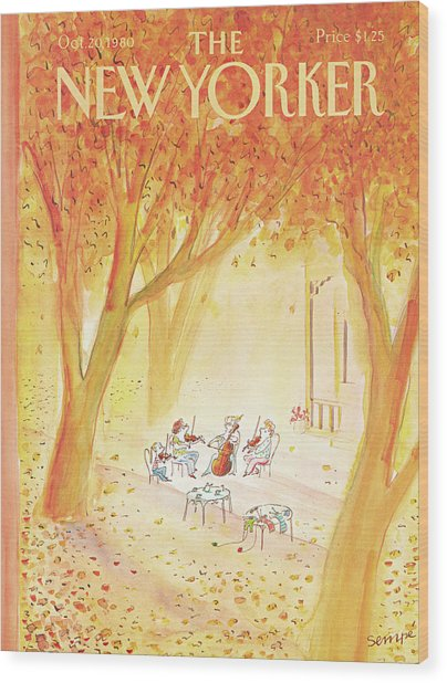 New Yorker October 20th, 1980 Wood Print
