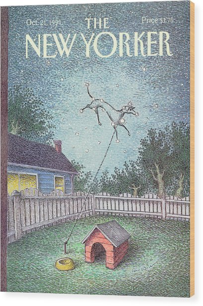 New Yorker October 21st, 1991 Wood Print