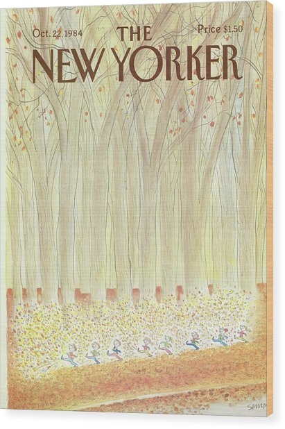 New Yorker October 22nd, 1984 Wood Print