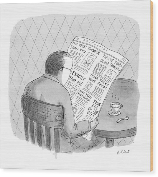 New Yorker October 25th, 1993 Wood Print