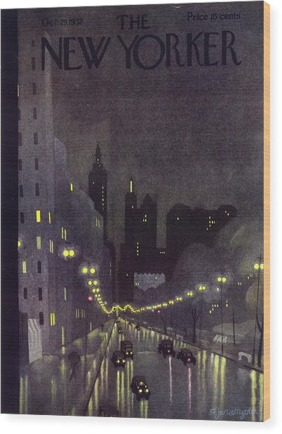 New Yorker October 29 1932 Wood Print