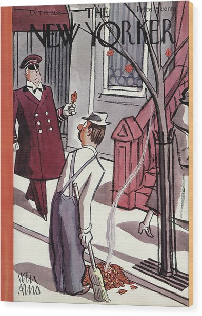 New Yorker October 29th, 1938 Wood Print