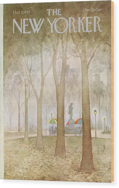 New Yorker October 3rd, 1977 Wood Print