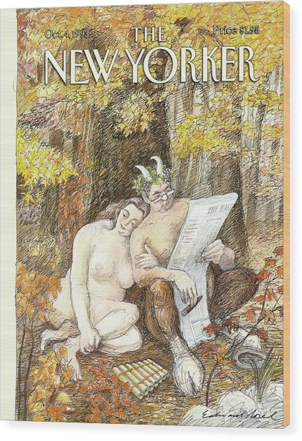 New Yorker October 4th, 1993 Wood Print