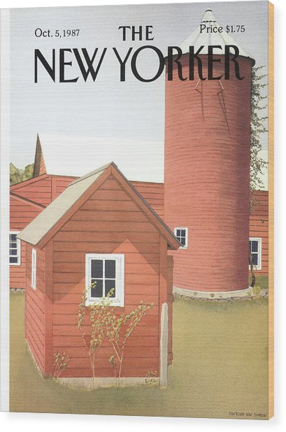 New Yorker October 5th, 1987 Wood Print