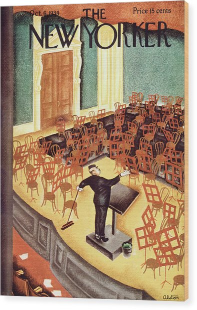 New Yorker October 6th, 1934 Wood Print