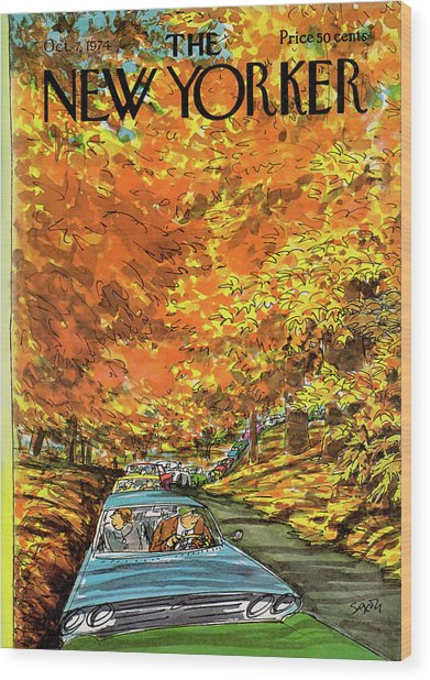 New Yorker October 7th, 1974 Wood Print