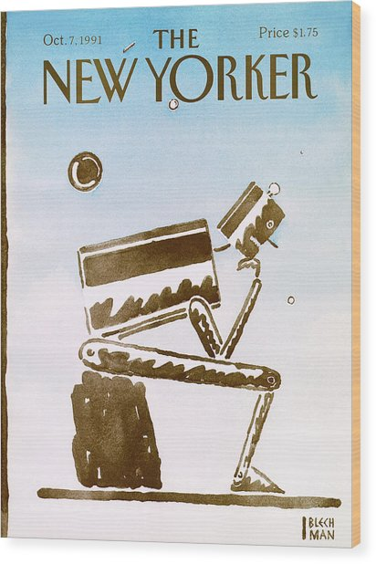 New Yorker October 7th, 1991 Wood Print