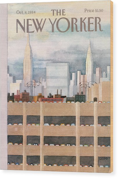 New Yorker October 8th, 1984 Wood Print