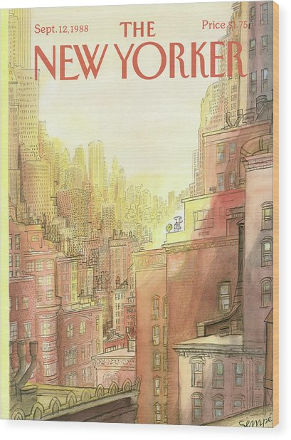 New Yorker September 12th, 1988 Wood Print