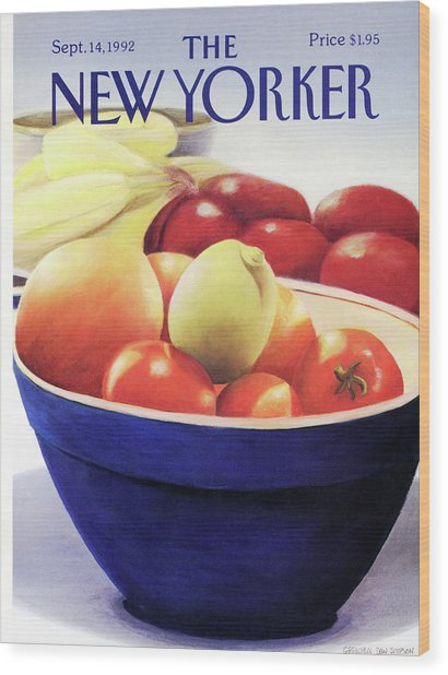 New Yorker September 14th, 1992 Wood Print by Gretchen Dow Simpson