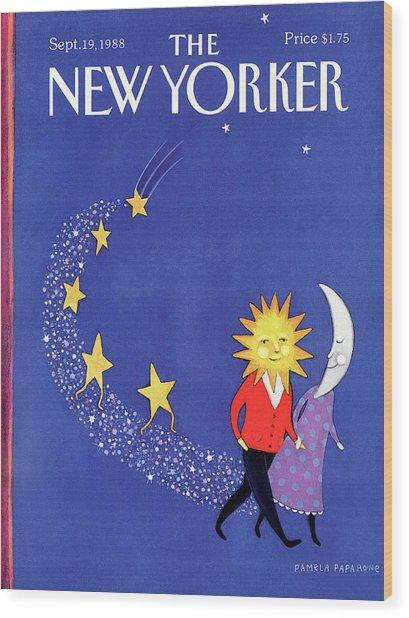 New Yorker September 19th, 1988 Wood Print