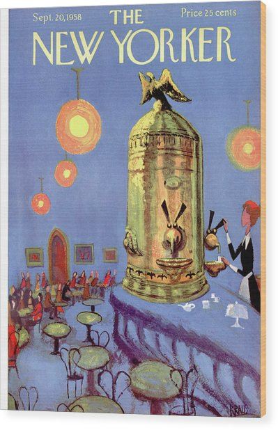 New Yorker September 20th, 1958 Wood Print by Robert Kraus