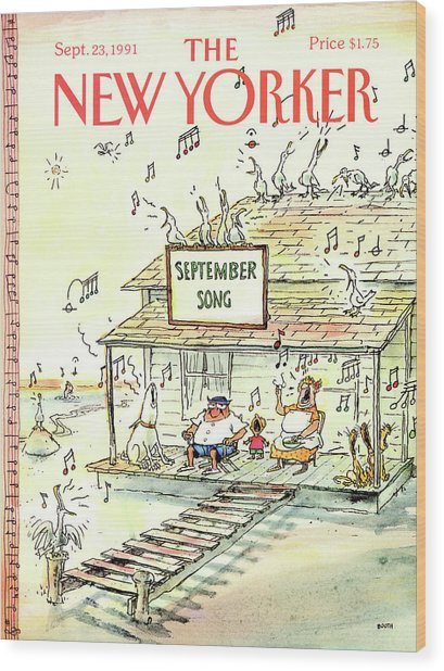 New Yorker September 23rd, 1991 Wood Print