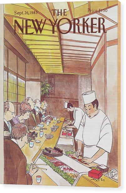 New Yorker September 26th, 1983 Wood Print