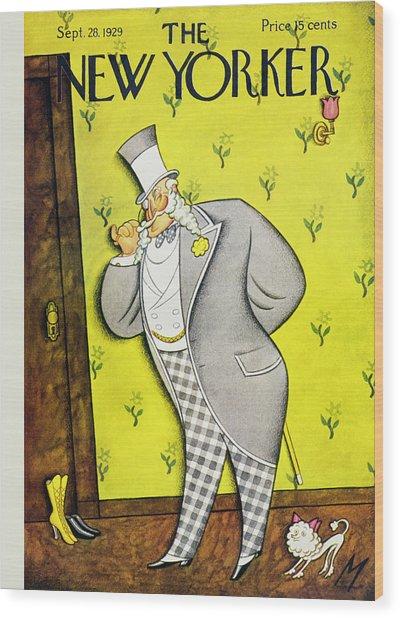 New Yorker September 28 1929 Wood Print by Julian De Miskey