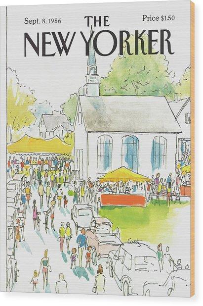 New Yorker September 8th, 1986 Wood Print