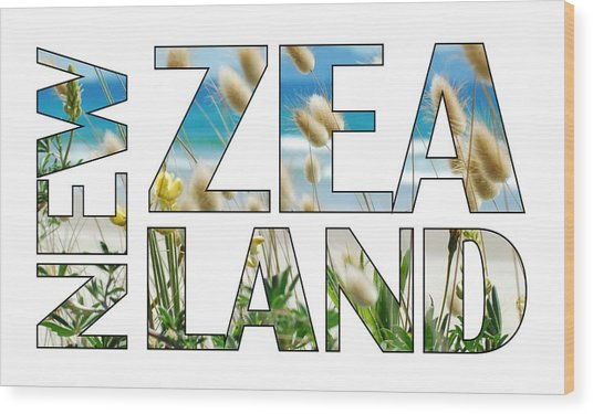 Wood Print featuring the photograph New Zealand by Jocelyn Friis