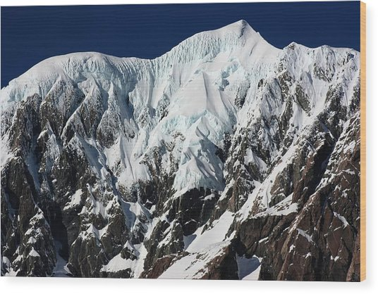 New Zealand Mountains Wood Print