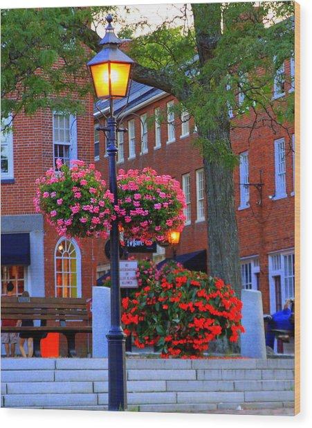 Newburyport Light Wood Print