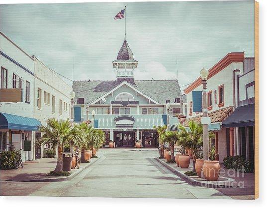 Newport Beach Balboa Main Street Vintage Picture Wood Print by Paul Velgos