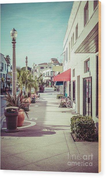 Newport Beach Main Street Balboa Peninsula Picture Wood Print by Paul Velgos