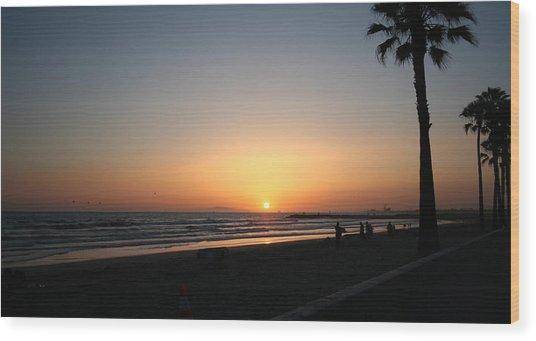 Newport Beach Sunset Wood Print