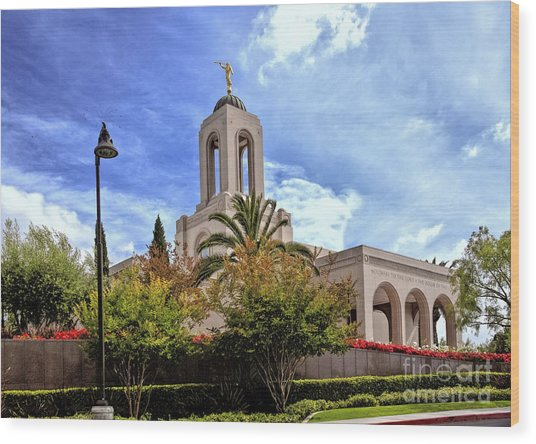 Newport Beach Temple Wood Print