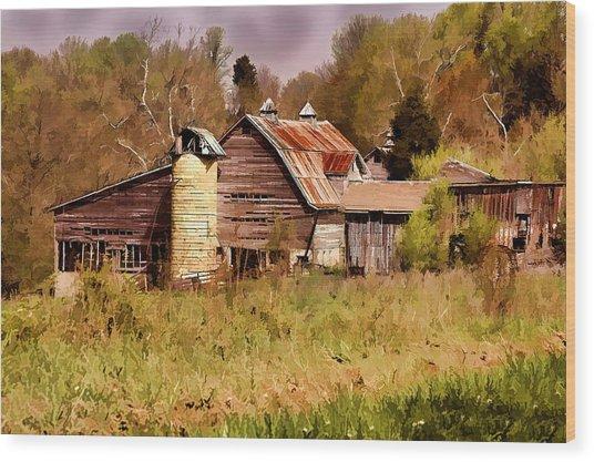 Newton Township Barn Wood Print