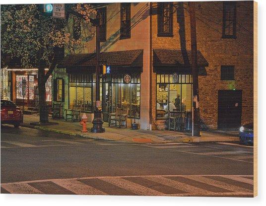 Newtown Nighthawks Wood Print