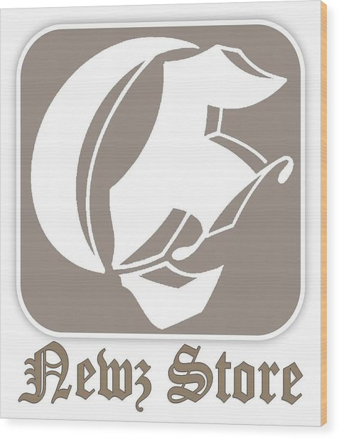 Eclipse Newspaper Store Logo Wood Print