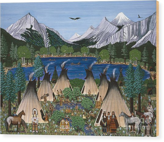 Nez Perce Wallowa Lake Wood Print