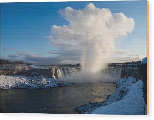 Niagara Falls Makes Its Own Weather Wood Print