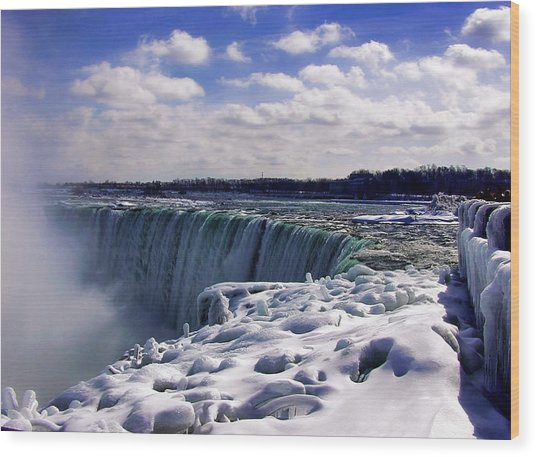 Niagara Falls Winter Wood Print