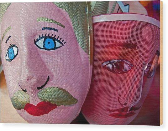 Nicaraguan Masks Wood Print
