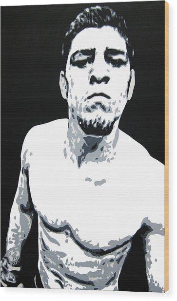 Nick Diaz 2 Wood Print