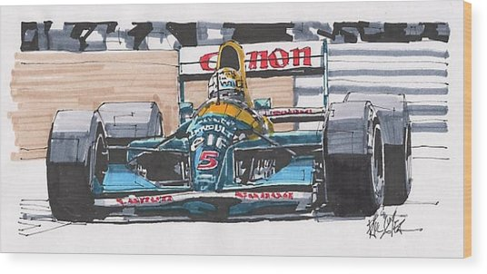Nigel Mansell Williams Grand Prix Of Portugal Wood Print