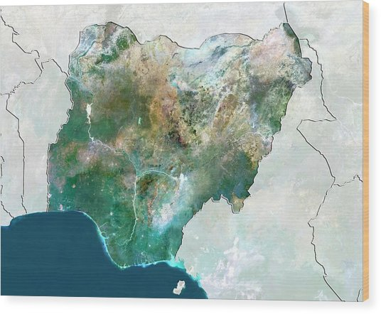 Nigeria Wood Print by Planetobserver/science Photo Library