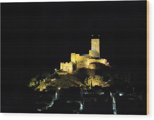 Night At The Castle Wood Print