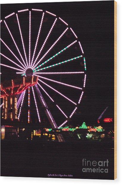 Night At The Fair Wood Print
