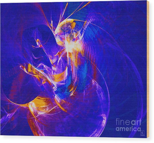 Night Dancer 2 Wood Print