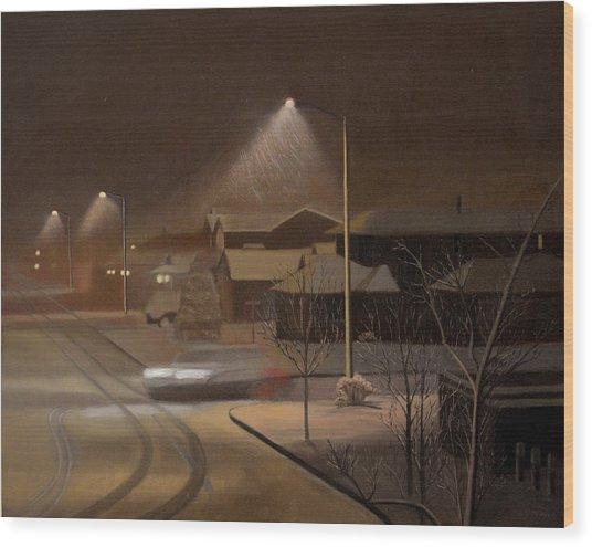 Night Drive Wood Print