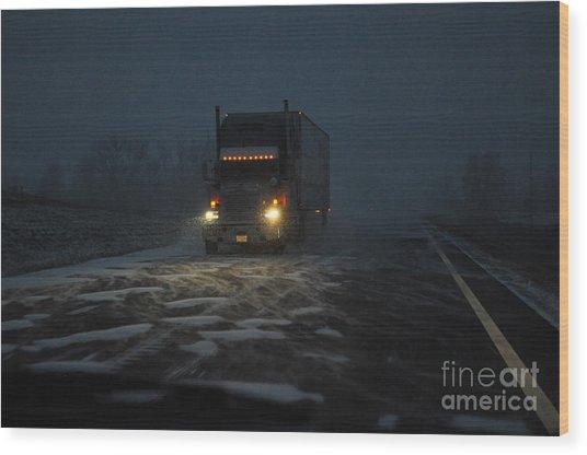 Night Driver Wood Print