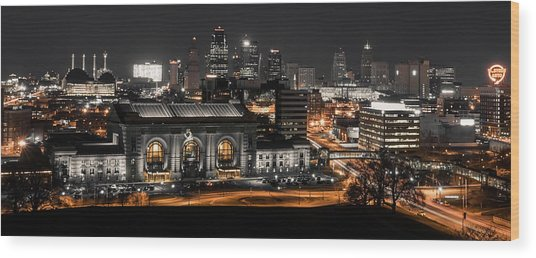 Night In The City Wood Print