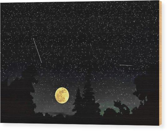 Night Moves Wood Print