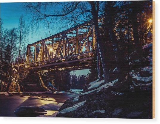 Night Of Steel Wood Print