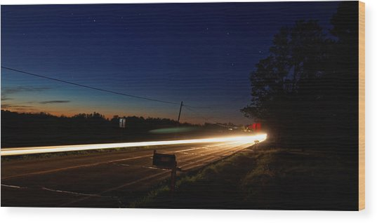 Night Passing Wood Print